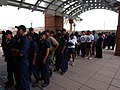 US Navy 040922-N-7559C-081 Students assigned to Naval Air Technical Training Center (NATTC), located on board Naval Air Station Pensacola, Fla., wait in line at the base galley.jpg