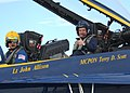 US Navy 050203-N-8977L-015 Master Chief Petty Officer of the Navy (MCPON) Terry D. Scott gives a thumbs-up after his familiarization flight in a Blue Angel F-A-18A Hornet.jpg