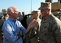 US Navy 081219-N-5681S-062 U.S. Rep. Joe Courtney speaks with Marines on the flight deck of the multi-purpose amphibious assault ship USS Iwo Jima (LHD 7).jpg