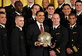 US Navy 090421-N-0000X-001 President Barack Obama poses for a group photo with U.S. Naval Academy Midshipmen during the Commander-in-Chief Trophy presentation.jpg