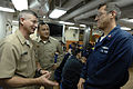 US Navy 090703-N-9818V-312 Master Chief Petty Officer of the Navy (MCPON) Rick West visits with the crew of the guided-missile destroyer USS Decatur (DDG 73) at Commander Fleet Activities Yokosuka, Japan.jpg
