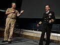 US Navy 100616-N-0696M-076 Chief of Naval Operations (CNO) Adm. Gary Roughead introduces Chairman of the Joint Chiefs of Staff Adm. Mike Mullen at the 2010 Flag Officers and Senior Executive Service Symposium at the U.S. Naval.jpg