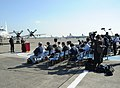 US Navy 111031-N-VE260-071 Rear Adm. Sean Buck and Japan Maritime Self-Defense Force Vice Adm. Hiroo Hatanaka conduct a press conference about Annu.jpg