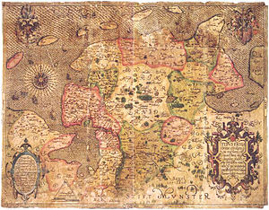 Ubbo Emmius - Emmius' map of East Frisia (1595)