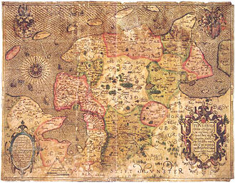 Ubbo Emmius - Emmius' map of East Frisia (1595)