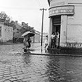 Ulica Zeleznicna, balra az ulica Jókaiho. Fortepan 53917.jpg