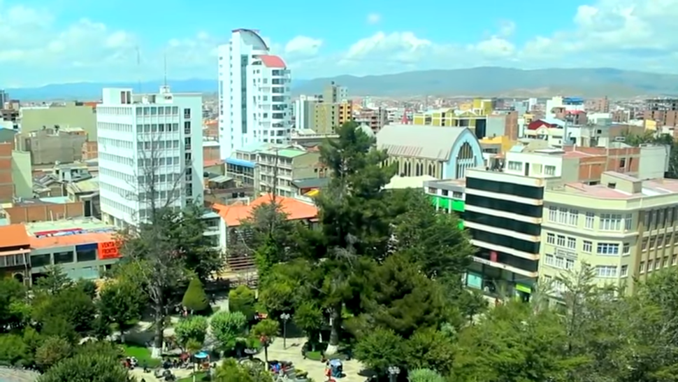 Una vista a los edificios que tiene la Ciudad de Oruro