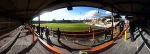 Underhill Stadium - Panoramic view from North East Terrace