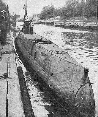 Havmanden-class submarine (1911) - Image: Undervandsbåden Havmanden 1914 gs