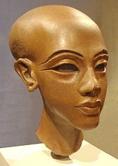 Kopf der Figur einer ägyptischen Prinzessin