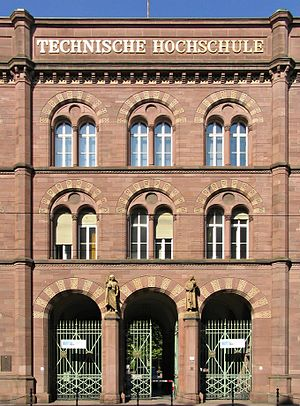 Rundbogenstil - Entrance to the main building of Karlsruhe Polytechnic (Heinrich Hübsch, 1833–35)