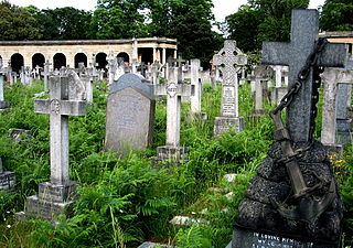 Brompton Cemetery cemetery near Earls Court in South West London, England