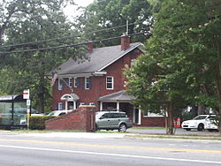 The University Park Town Hall, in July 2010, at 6724 Baltimore Ave.