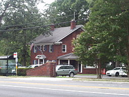 The University Park Town Hall, in July 2010, at 6724 Baltimore Avenue.