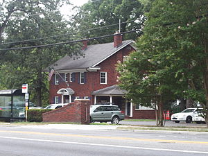 University Park, Maryland - The University Park Town Hall, in July 2010, at 6724 Baltimore Avenue.