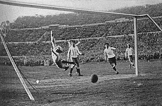1930 FIFA World Cup Final - Uruguay's fourth goal was scored by striker Héctor Castro.