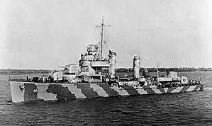 USS Hobson off Charleston, South Carolina, 4 March 1942.