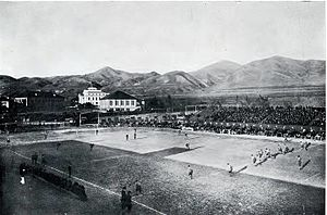 Rumble in the Rockies - Kickoff during the 1916 Colorado – Utah game at Cummings Field in Salt Lake City