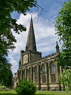 St Mary the Virgin Church, Uttoxeter Church in Staffordshire, England