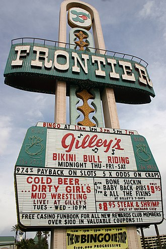 New Frontier Hotel and Casino - Frontier marquee before removal