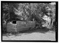 VIEW OF OUTHOUSE ON NORTHEAST SIDE OF MAIN STRUCTURE - Woods Hall, Louisiana State Highway 484, Natchez, Natchitoches Parish, LA HABS LA-1355-3.tif