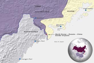 China North Korea Russia Tripoint Wikipedia