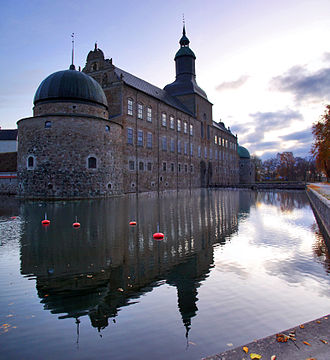 Vadstena Castle - Front view of the castle