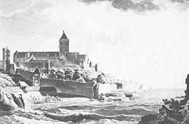 De Valkhofburcht in 1794 vlak vóór het beleg.