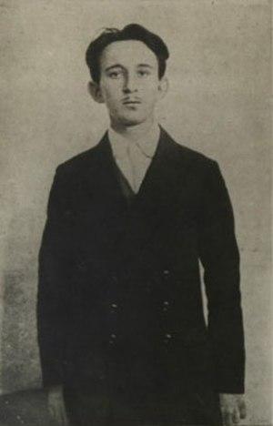 Vaso Čubrilović - Čubrilović in Austro-Hungarian police custody, October 1914.