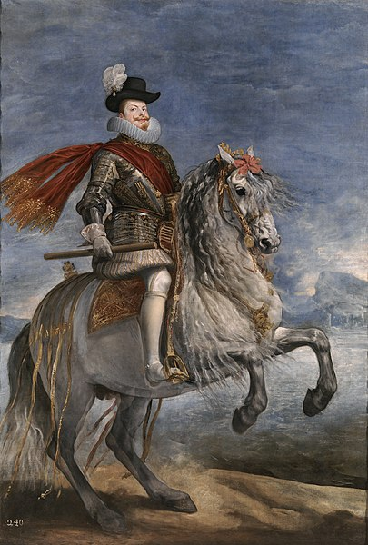 Felipe III por Diego Velázquez.