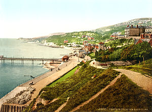 Ventnor - Photochrom of Ventnor, 1899