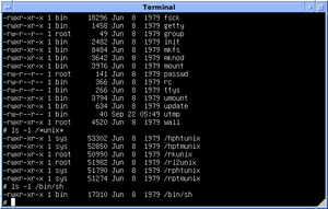 Bourne shell - Image: Version 7 UNIX SIMH PDP11 Kernels Shell