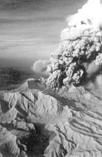 Explosive eruption, early June 1991