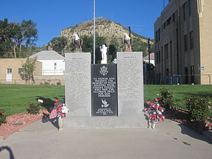 Colfax County, New Mexico - Veterans Monument at Colfax County Courthouse in Raton