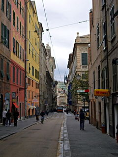 Baroque street in Genoa