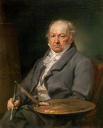 Francisco Goya - Portrait of Goya by Vicente López Portaña, c. 1826. Museo del Prado, Madrid