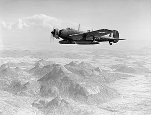 Battle of Keren - Vickers Wellesley of No. 47 Squadron RAF based at Agordat, Eritrea, in flight during a bombing mission to Keren.