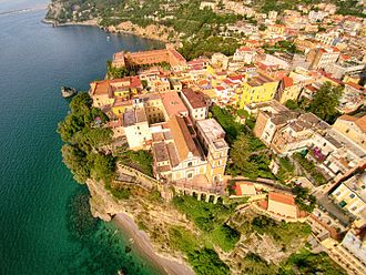 Vico Equense - The Church of the Annunciation seen from above.
