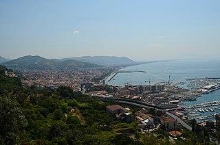 Salerno city in Campania, Italy