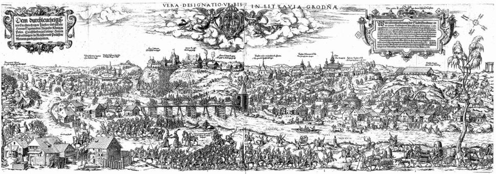 View of Grodno in XVI century