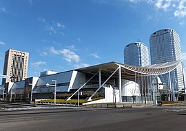 View of Makuhari-Messe from Nakase 2-chome crossing(cropped).jpg