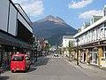 View of Mount Yufudake from Yufuin Station.jpg