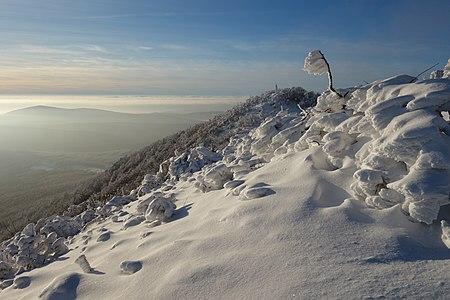 Vihorlat v zime počas inverzie