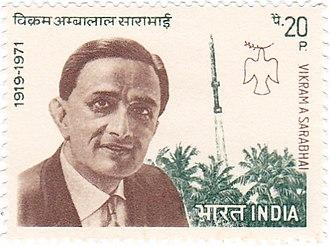 Vikram Sarabhai - Sarabhai on a 1972 stamp of India