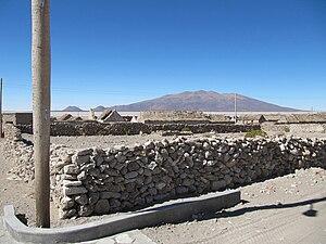 Sabaya Province - Wila Pukarani volcano as seen from the north