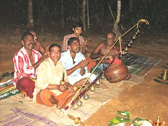Villu Paatu - A group of artists performing villupattu