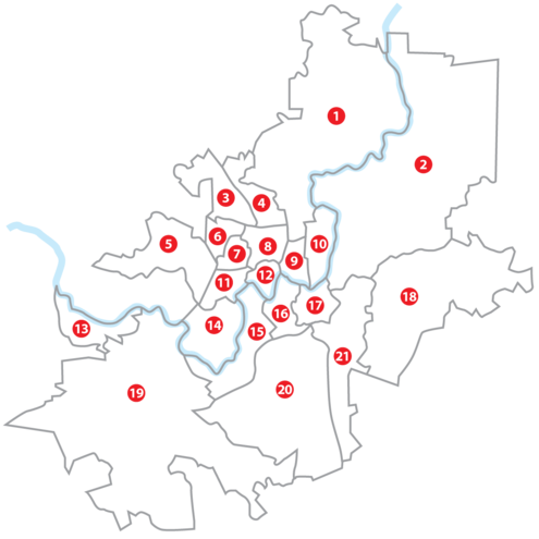 Map of Vilnius elderships. Numbers on the map correspond with numbers in the list Vilniaus seniunijos numeracija.png