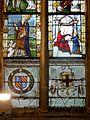 Vineuil-Saint-Firmin (60), église Saint-Firmin, verrière n° 3 - saint Nicolas ou saint Firmin, sainte Anne et la Vierge Marie.JPG