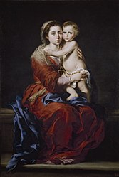 Bartolomé Esteban Murillo: Virgin and Child with a Rosary