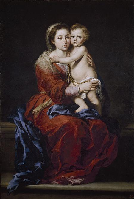 Virgen del Rosario con el Niño-Murillo 450px-Virgen_del_Rosario_%28Murillo%29